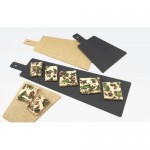 Cal-Mil 1535-24-13 Serving Board with Handle (16Wx8Dx.25H - Black)