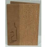 WINE CARD, CORK DESIGNER 10 W X 13 H