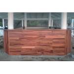 Custom design bar for Tropica. Raintree, mahogany, ply