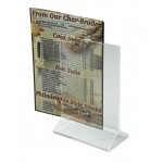 "4"" x 6"" Table Sign Holder, Acrylic - 12/Case"