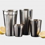 COCKTAIL SHAKER, STAINLESS STEEL, SHORT SHAKER, 8 OZ.