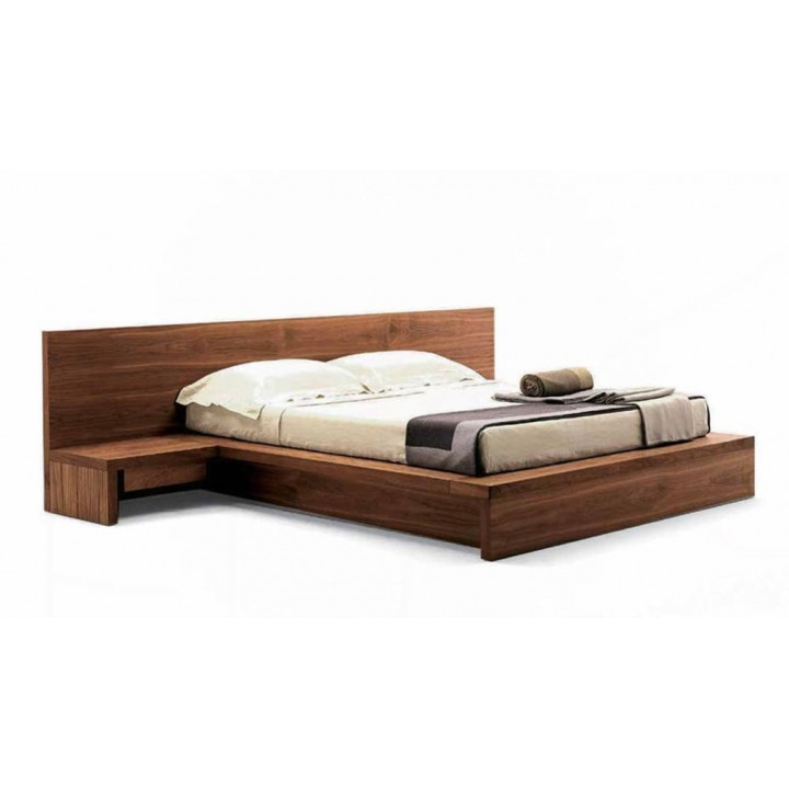 Contemporary living king size bed with integrated bedside tables and headboard. Raintree 2900x2000x1100