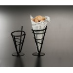 CONCIAL BASKET, WROUGHT IRON, MINI 3-3/4 DIA. X 7-1/8 H