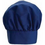"13"" Chef Hat, Velcro Closure, Blue - 24/Case"