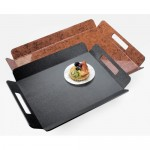 Cal-Mil 958-2-13 Classic Hotel Tray (16Wx13Dx1.5H - Black)