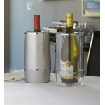WINE COOLER, ACRYLIC, CLEAR 3 DIA. X 5 W X 9 H