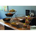 Small 3-Tier Arch Stand, Silver, Chrome - 1/Case