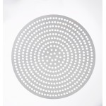 "10"" Superperforated Pizza Disk - Hard Coat Anodized Aluminum - 24/Case"