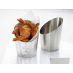 FRY CUP, STAINLESS STEEL, ANGLED, 12 OZ. 2-7/8 DIA X 4-1/2 H