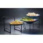 PIZZA STAND, WROUGHT IRON, BLACK 19-3⁄8 L x 11-3⁄4 W x 12-3⁄8 H