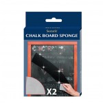 CHALKBOARD SPONGE, 2 PK 4 L X 6-1/2 W X 1-1/2 H
