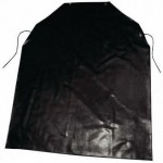 Bib Apron, Latex, Black