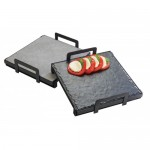 Cal-Mil 3487-1212-13 Square Stands for Faux Cement or Slate Platters (12Wx12Dx3.25H)
