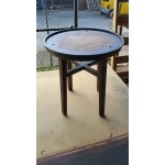 Round coffee table. Style 100. Stone top excluded.