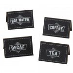 Cal-Mil 3047-4 Chalkboard Beverage Signs (TEA)