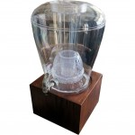 Juice dispenser with ice core and infusion chamber. 11,3 Liters. Acrylic container. Raintree base.