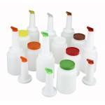 1 Ltr Liquor/Juice Pour Bottle Set, 2 Of Each Color, EACH