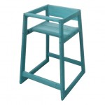 Wooden High Chair, Blue painted, Assembled - 1/Case