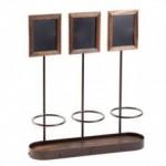 """16""""x16"""" Bottle Display, Antique Copper, Steel Frame, Wood Base - 1/Case"""