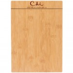 "13 1/2"" x 9"" Natural Wood Menu Holder with Logo"