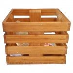 Wooden Serving and Display Crate. Mahogany - 1/Case