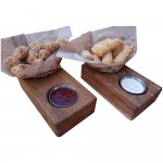 2 compartment Raintree tray with 2 Oz. ramekin included