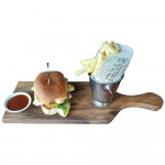 Medium serving board with handle. Raintree.