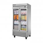 636 Ltr Upright Refrigerator, 2 Full Glass Door - 1/Case