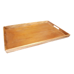 650x450x40 mm Wooden Serving Tray. Mahogany