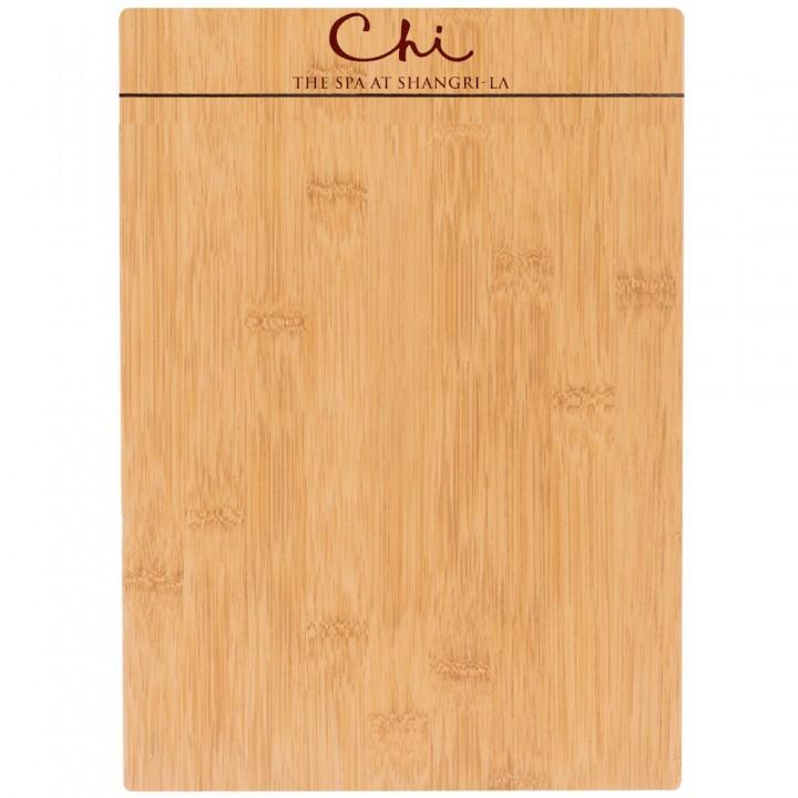 Custom design wooden board menu holder with custom logo