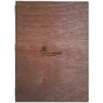 A4 Menu Holder with Screw & Nut, Magimagi rope + Engraving, PLY