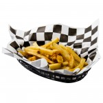 "12""x12"" Black Check Grease Proof Paper - 1000/Case"