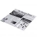 "Choice 12"" x 12"" Newspaper Print Deli Sandwich Wrap Paper — 1000/Case"