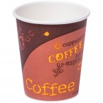 8 oz. Coffee Print Poly Paper Hot Cup - 100/Case