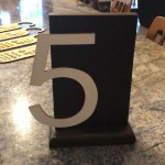 Engraved Number Sign, Mahogany, PVC