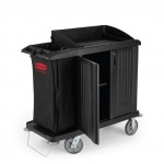 Executive Compact Housekeeping Cart with Doors - Traditional - 1/Case
