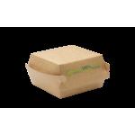110x65x130 mm Small Hamburger Box KRAFT PLA - 100/Case