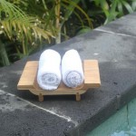 Face towel tray - teak in natural unfinish