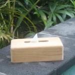 Rectangular tissue box - teak in natural unfinish