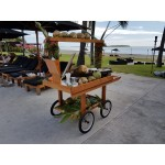 Mahogany market display trolley