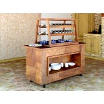 Muffin trolley. 1600x800x1800 mm. Teak