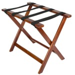 Wooden luggage racks for rooms. Mahogany.