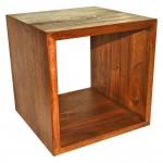 Reclaimed teak cube riser 12