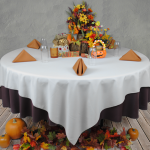 137x137cm Table Cloth Black - 1/CASE