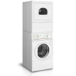 10kg Stack Front Load Washer and Front Load Dryer, Electric LTEE5ASP303ZW01 with Coin Kit3 years parts and labor warranty - 1/Case