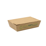 205x50x140 mm Medium Take Away Box KRAFT PLA - 100/Case
