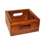 Teak wood square bowl,