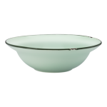 22cm Deep Round Plate, Tin Tin, New Bone Green - 12/Case