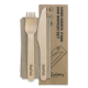 16 cm Knife, Fork & Napkin Set, Wood - 100/Case