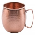 14 oz. Mug w/ Pounded Finish, Copper  - 1/Case